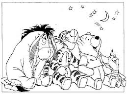 Winnie The Pooh And Friends Look Sky Coloring Pages Bebo Pandco