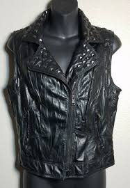 details about ci sono by cavalini medium studded faux leather vest
