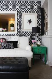 black and white and green bedroom. Kelle \u0026 Nick\u0027s Play Of Color And Pattern Black White Green Bedroom F