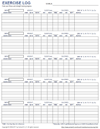 free workout log printable workout log room surf com