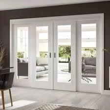 dramatic sliding doors separate. Easi-Slide OP1 White Shaker 1 Pane Sliding Door System In Four Size Widths With Dramatic Doors Separate