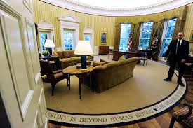inside the oval office. The Oval Office After Redecoration In 2010. Inside A