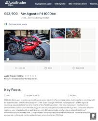 a lewis hamilton mv agusta f4 has been on autotrader for week autotrader insurance quote raipurnews