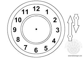 Orologio Con Le Lancette Da Ritagliare Tuttodisegnicom