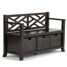 unique entryway furniture. Amazon.com: Simpli Home Adrien Solid Wood Entryway Storage Bench, Espresso Brown: Kitchen \u0026 Dining Unique Furniture