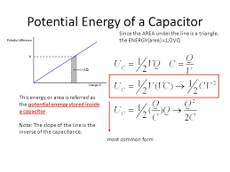 potential energy of a capacitor
