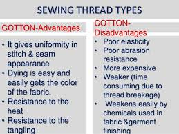 Fabrics Types And Uses New Use Of Sewing Threads And Types 2017