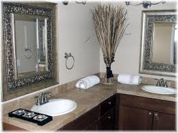 Bathroom Big Mirrors Bathroom White Waterfall Shower Dark Brown Wood Mirror Dark
