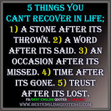 5 Things You Cant Recover In Life Best English Quotes Sayings