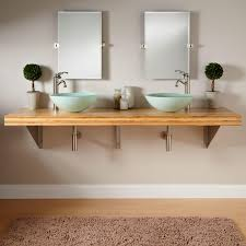 Bamboo Bathroom Sink 73 Bamboo Wall Mount Vessel Sink Vanity Triangular Brackets