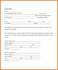 bill of sale form for auto auto bill of sale template art resume skills