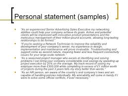 Personal Summary Examples Resume Personal Statement Good