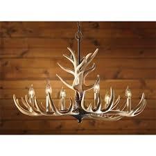 6 light antler chandelier