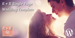 Wedding Template New RR Single Page Wedding Template By Theweblab ThemeForest