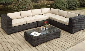 home depot patio furniture sale. home depot patios lowes patio furniture sectional black woven sofa with ivory cushion sale