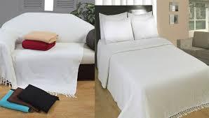 cotton extra large sofa throw natural