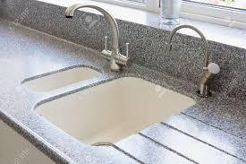 Kitchen Sinks Granite Granite Kitchen Worktop And Ceramic Sunken Sink With Hot Water