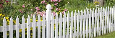white fence. Fence Tips White Picket With Flowers And Garden
