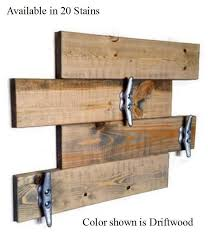 Boat Cleat Coat Rack Extraordinary Farmhouse Nautical Coat Rack With 32 Heavy Duty Boat Cleat Renewed