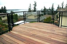 deck railing systems clear surface mount single top glass rail g home depot image of aluminum