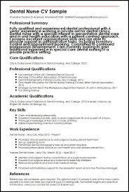 Dental Nurse CV Sample MyperfectCV Awesome Nurse Resume Skills