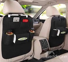حقيبة خلفية لمقعد السيارة للأغراض الشخصية أسود