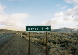 highway directional sign to wendel