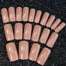 Aliexpress.com : Buy 24pcs High Quality Charming Fake Nail Natural ...