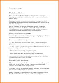 What Should Your Objective Be On Your Resume First Job Resume Objective Examples Statement For On Example 34
