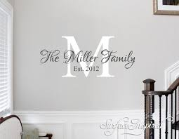 personalized family name monogram wall decal vinyl wall art miller fam surface inspired home decor wall decals wall art wooden letters on personalised family name wall art with personalized family name monogram wall decal vinyl wall art miller