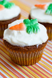 Carrot Cake Cupcakes With Sprinkles On Top