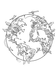 Small Picture World Map Coloring Page This is a drawing I did a while back