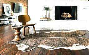 fake cowhide rug animal white faux cowhide area rug