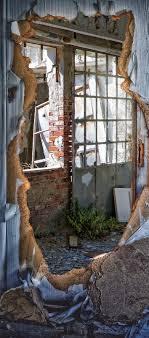 Türposter Haus Türaufkleber Türfolie Türtapete Verfall Alt Fenster Licht 784tp