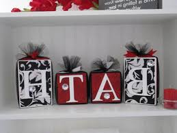 black and red bathroom accessories. Photo 4 Of 6 Blocks-Wooden-Bathroom Decor-Black And White Damask With Red Accent-- Black Bathroom Accessories R