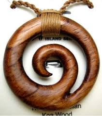 genuine koa wood hawaiian jewelry spiral pendant choker necklace 45023 ebay