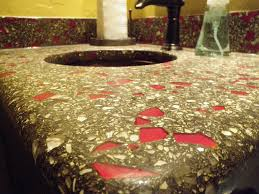 how to using recycled glass aggregates directcolors com within concrete countertop inspirations 22