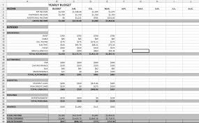 Excel Monthly Budget Spreadsheet Monthly Bills Spreadsheet Template Excel Business Budget And Yearly