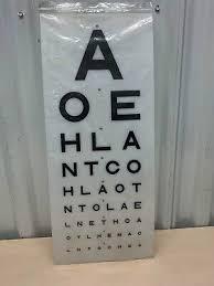 Vintage Eye Chart Light Box Eye Test Chart Medical Opticians Display Replacement Light Box Charts Covers Ebay