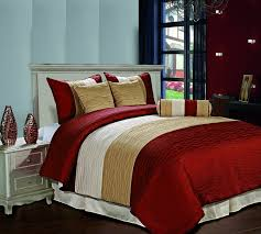 amber jacquard 7 piece down alternative comforter set full burdy gold beige