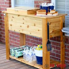 diy barbeque cart