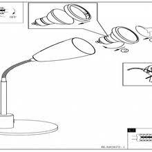 <b>Eglo</b> Fox <b>92873 настольная лампа</b> офисная купить в Москве ...