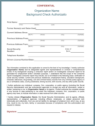 Background Check Authorization Form 5 Printable Samples