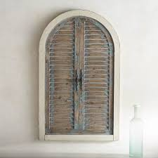 nice looking arched wall decor modern house distressed blue arch pier 1 imports window metal iron
