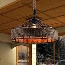 light vintage country iron rope pendant lights restaurant lamp industrial hemp lamps light ceiling lighting