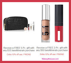 receive a free 5 pc gift with your 35 bareminerals purchase