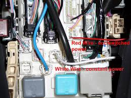 need help wiring fog lights toyota yaris forums ultimate yaris based on the two wires going into the inside fuse box below what connectors do i need for where the red and white wires go