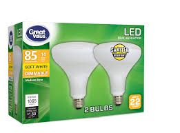 Walmart Great Value Led Light Bulbs Great Value Led Light Bulb 14w 85w Equivalent Br40