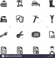 job icon set for web sites and user interface stock photo royalty job icon set for web sites and user interface