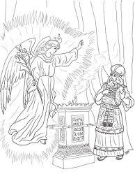 Engels Bezoekt Zacharias Kleurplaat Gratis Kleurplaten Printen